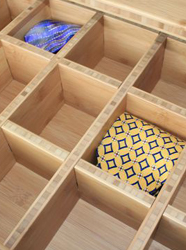 Bamboo tie drawers