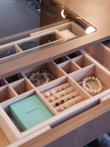 Jewellery Tray on display at Geelongs Premier Wardrobe Showroom