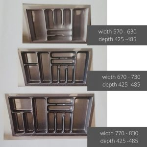 Cutlery trays Geelong large sizes