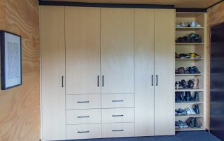 Formica soft maple custom robes